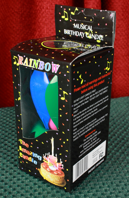 Rainbow Amazing Candle